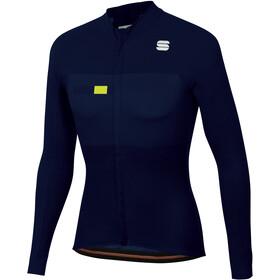 Sportful Bodyfit Pro Bluza termiczna Mężczyźni, blue/yellow fluo